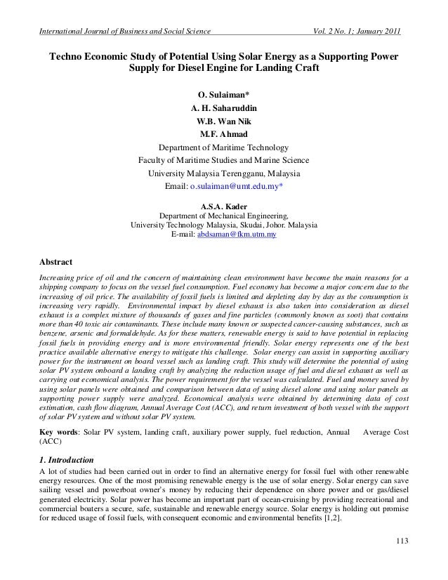 International Journal of Business and Social Science                                 Vol. 2 No. 1; January 2011   Techno E...