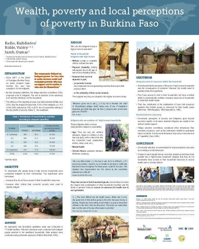 Wealth, poverty and local perceptions                      of poverty in Burkina FasoKadio, Kadidiatou1                   ...