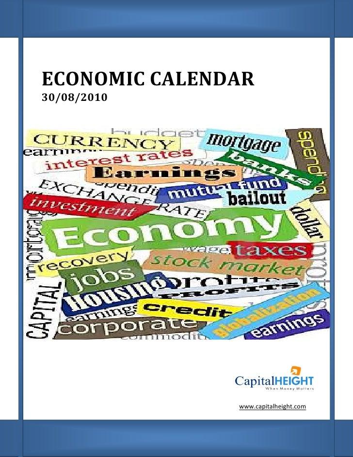 Economic calendar by capital height 30 08-10