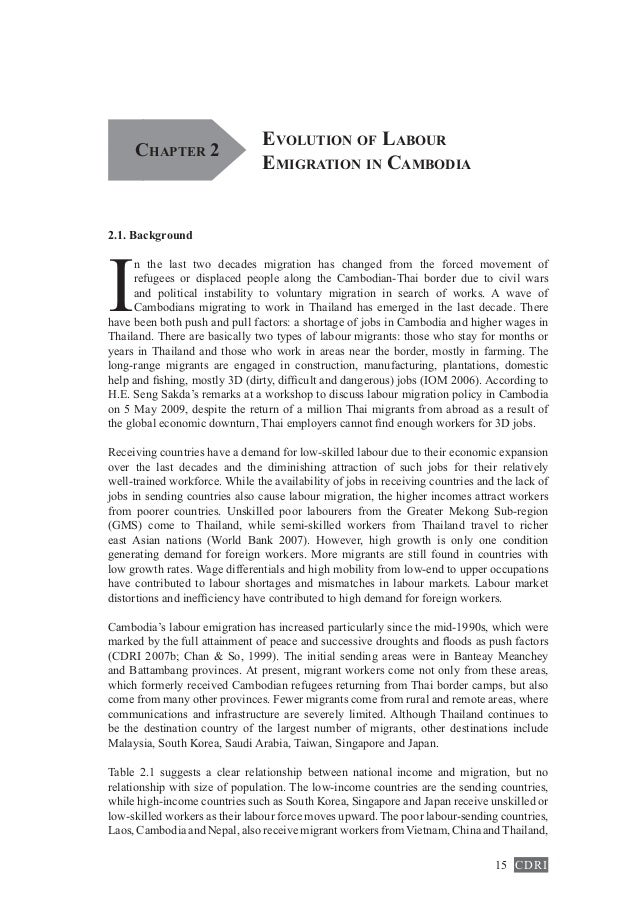 advantages of globalization in cambodia economy The new economy of water the risks and benefits of globalization and  privatization of fresh water peter h gleick, gary wolff, elizabeth l chalecki,  rachel.