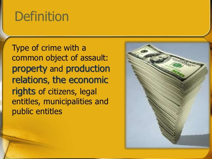 economics of crime Concept: economics of crime the economics of crime is a field of study that uses  economic theory, tools, and concepts (such as cost-benefit analysis, incentives,.