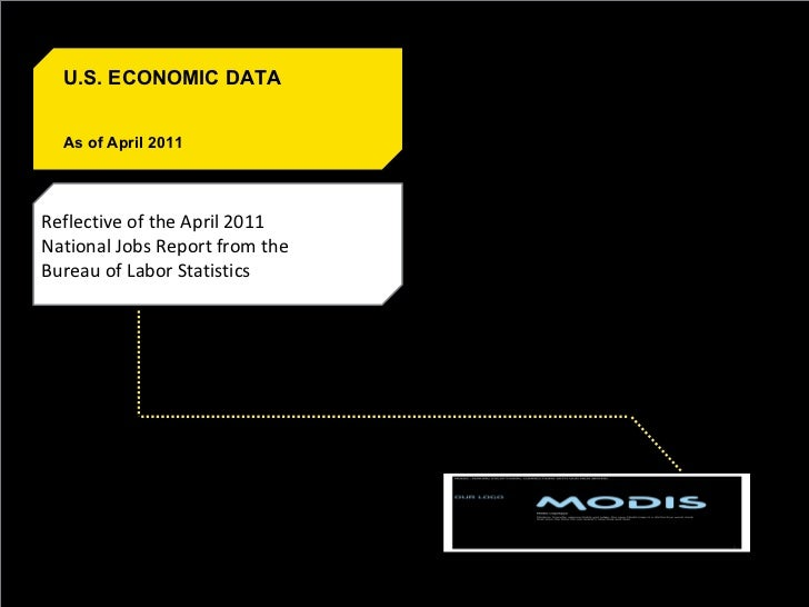 Reflective of the April 2011 National Jobs Report from the Bureau of Labor Statistics U.S. ECONOMIC DATA As of April 2011