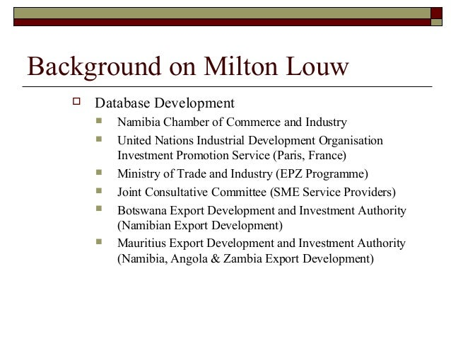 Namibia investment authority m3 investment