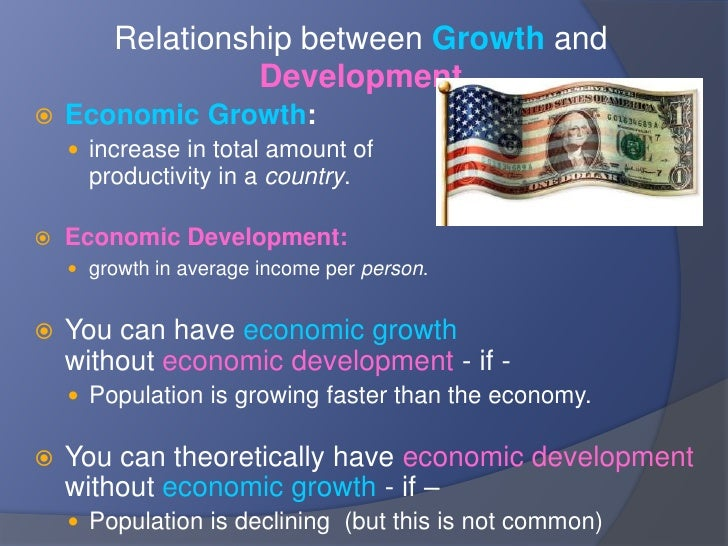 relationship between population growth and economic development Report of the working group on population growth and economic development,  committee on population, national research council, [edited by] d gale.