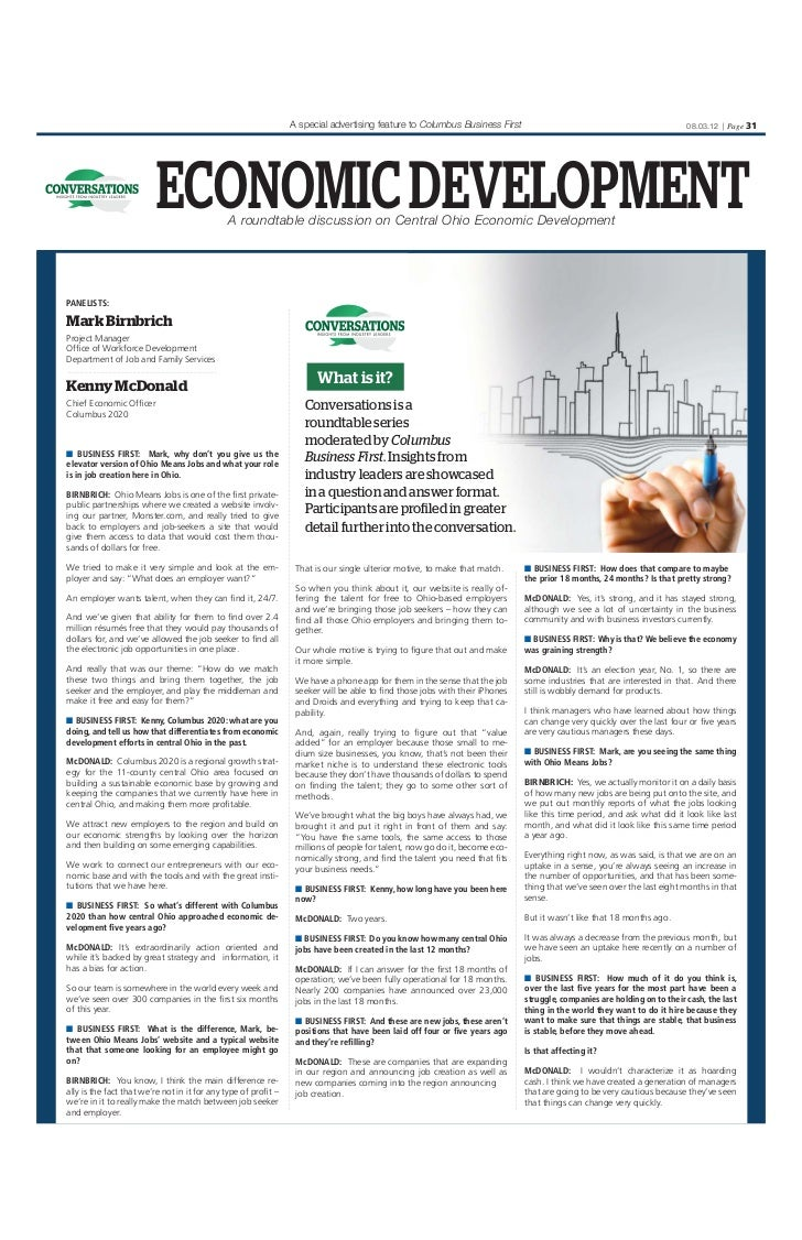 A special advertising feature to Columbus Business First                                                08.03.12 | Page 31...