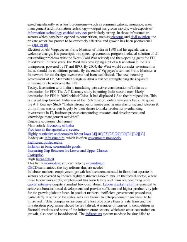 indian economic development notes pdf