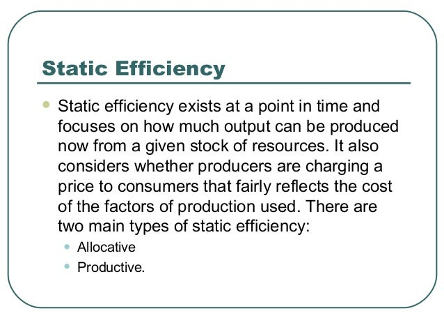 economic efficiency Alongside the lesson on economic efficiency, use these resources at any time and see how far you have progressed in your studies the worksheet is.