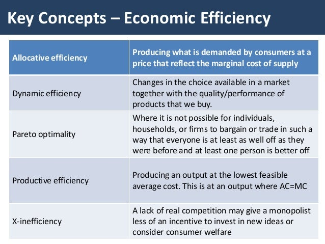 economic efficiency Economists are interested in economic efficiency for two reasons, one positive and the other normative the positive reason is based on the observation that people search for value.