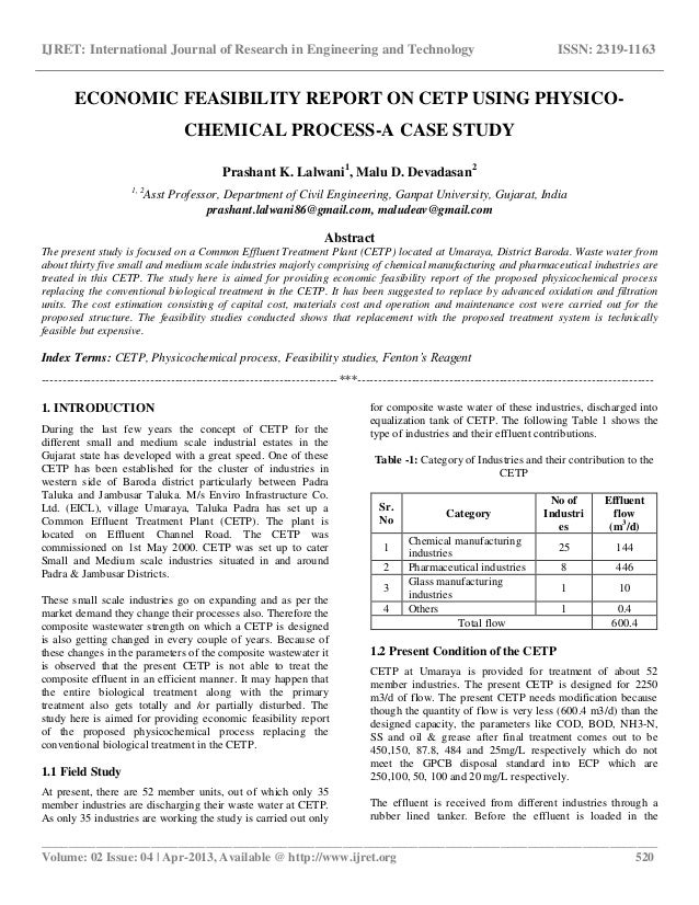 Case study and report journal