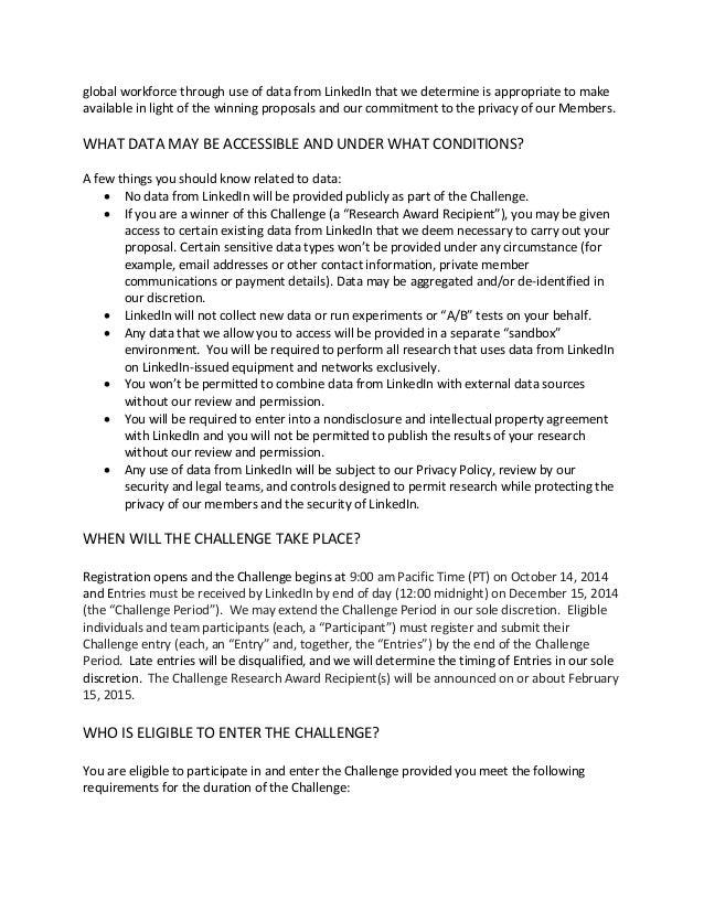 LinkedIn Economic Graph Challenge Rules Slide 2