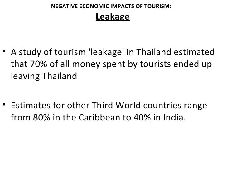 how does tourism affect the economy of a country