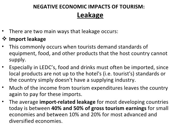 economic imapacts in travel and leisure essay