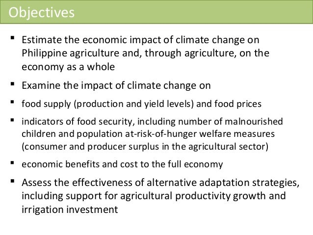 impact of climate change on agriculture Climate change impact on agriculture and costs of adaptation international food policy research institute washington, dc updated october 2009 gerald c nelson, mark w rosegrant, jawoo koo, richard robertson, timothy sulser.