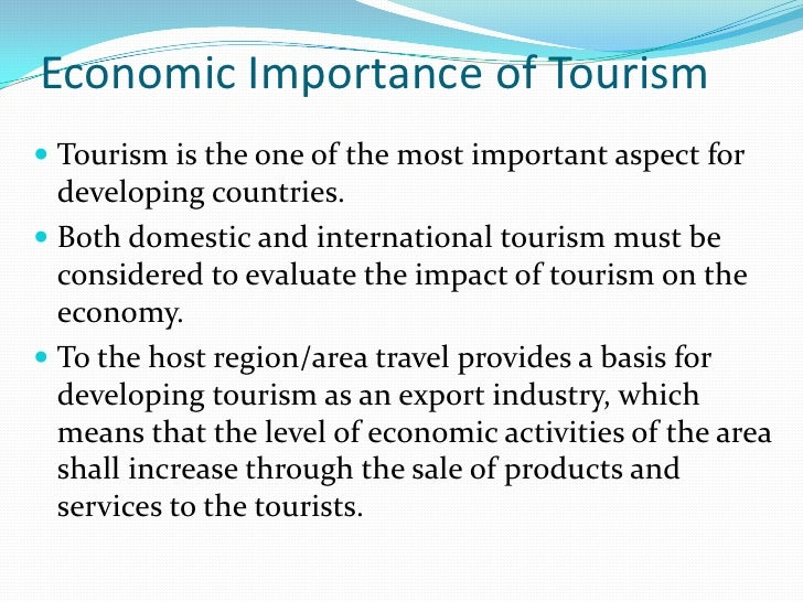 Travel & tourism essay