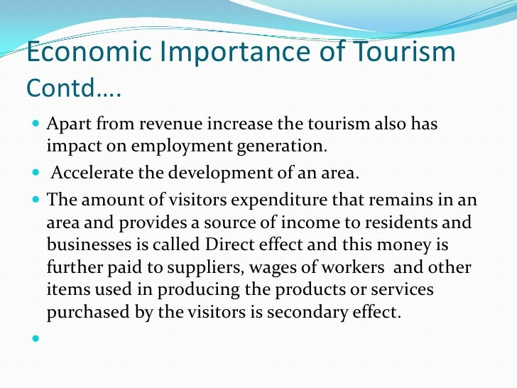 role of tourism in economic development