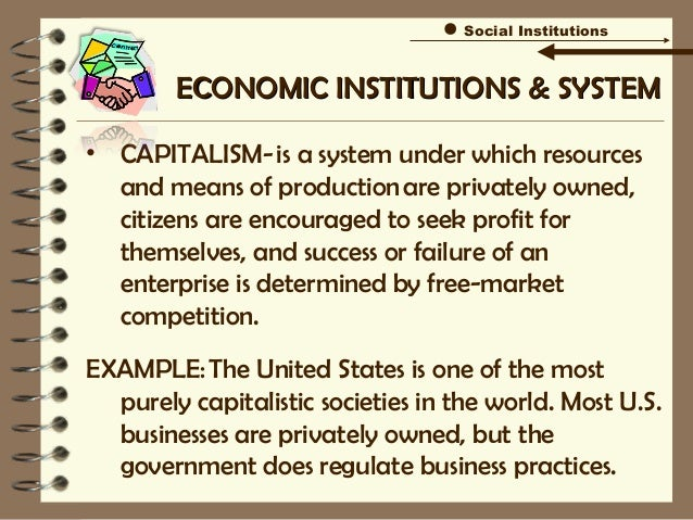 examples of institutions in society