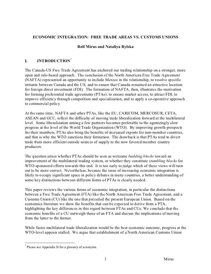 North american free trade agreement nafta essay
