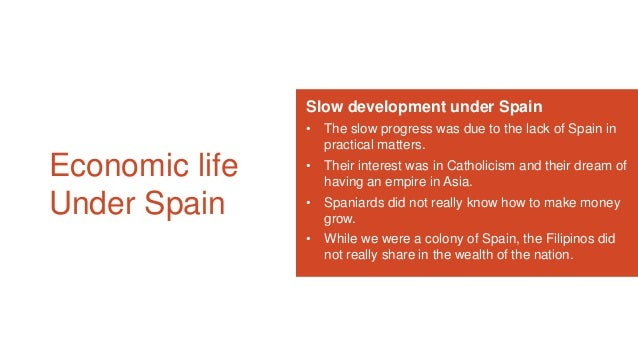 economic life under spain pdf