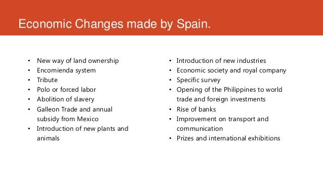filipinos economic life under spain History of the philippines: as filipinos who do you think were better colonizers, the spanish or americans what was life like for filipinos under spanish rule.