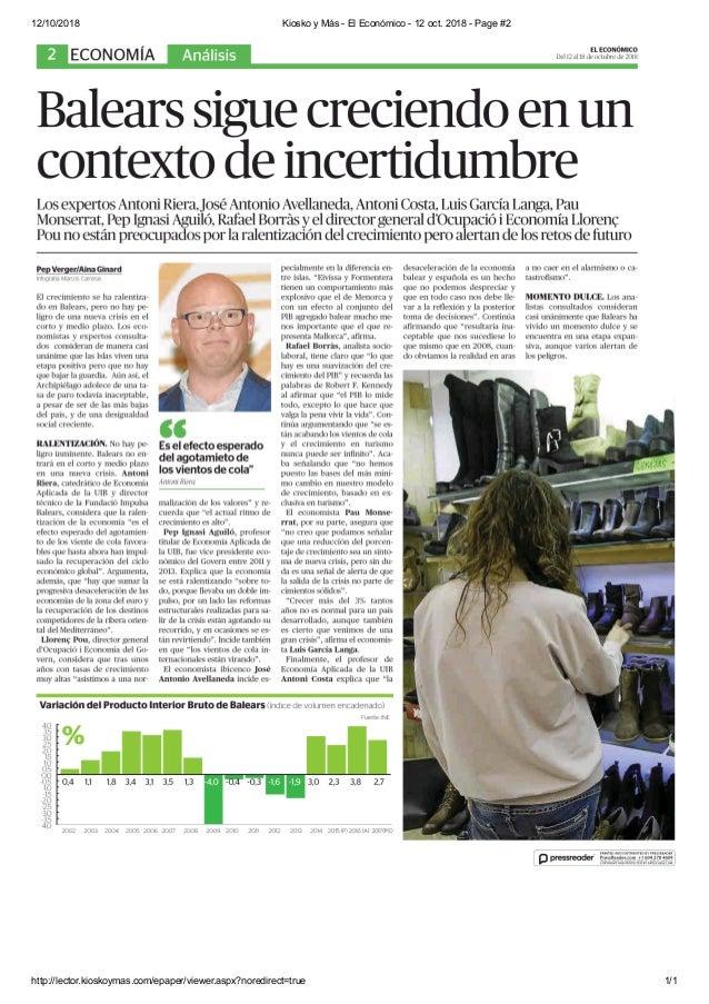 12/10/2018 Kiosko y M�s - El Econ�mico - 12 oct. 2018 - Page #2 http://lector.kioskoymas.com/epaper/viewer.aspx?noredirect...
