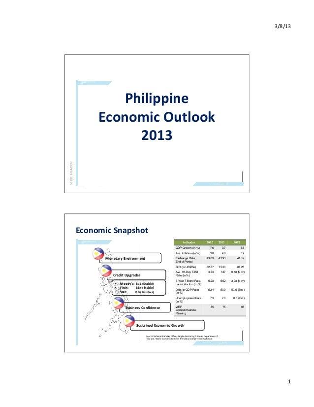 3/8/13                                 Philippine                              Economic Outlook                   ...