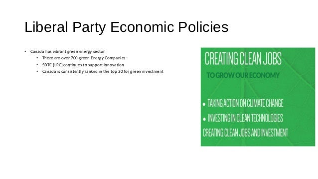 Economic Policies Analysis Liberal Party Of Canada Ndp