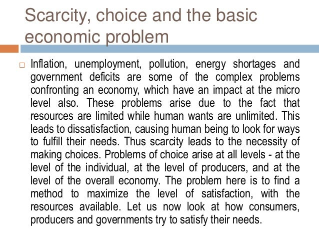 economic models for scarcity of resources Endogenous growth and natural resource scarcity 53 analysis and explanations is the structural economic dependence of poor economies on natural resource endowments.