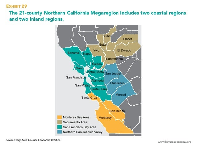 www.bayareaeconomy.org The 21-county Northern California Megaregion includes two coastal regions and two inland regions. E...