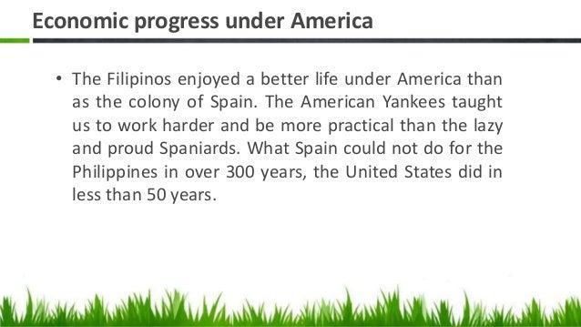 Economic progress under america