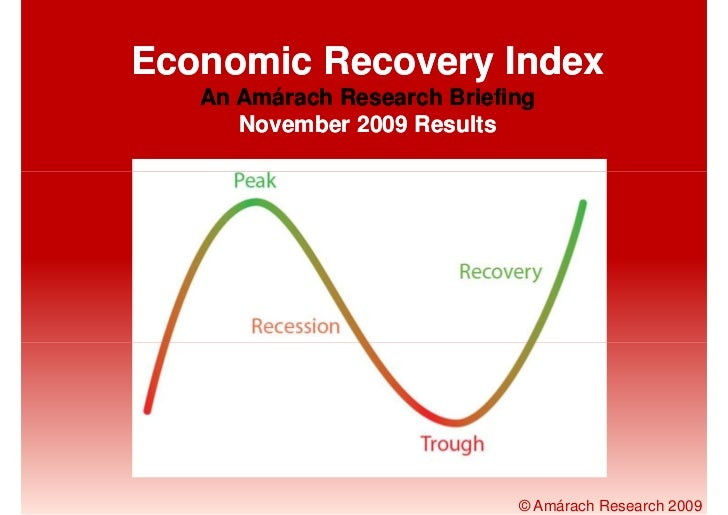 Economic Recovery Index    An Amárach Research Briefing       November 2009 Results                                  © Amá...