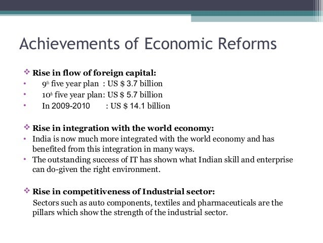 economic reforms in india achievements and Business news  news  politics and nation  pv narasimha rao had achievements other than economic reforms,  achievements like  in india's economic and .