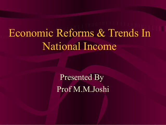 trends of national income