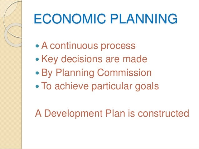 nature of economic planning