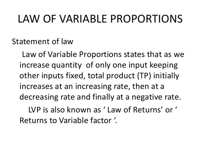 law of variable proportion Pgdm batch||| rajkamal paroha contents introduction key concept of law production function definition of t.