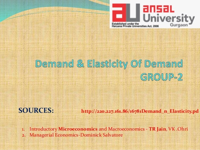 Demand Elasticity Of Demand