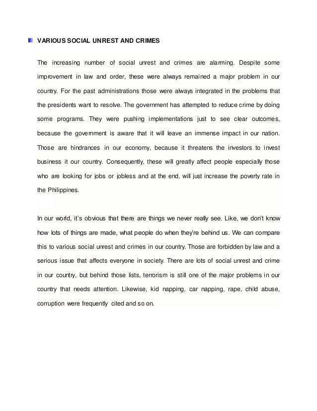 Essay About Social Problems In The Philippines  Mistyhamel Research Analysis At Philippines Economy
