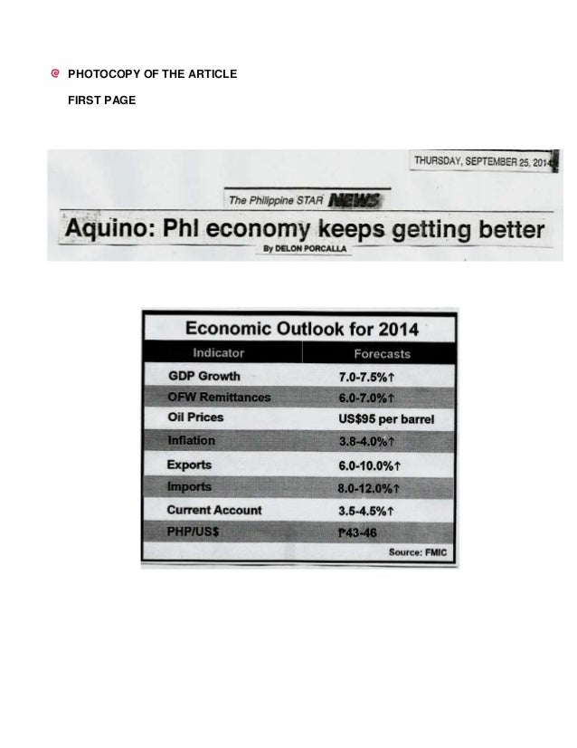 an analysis of the economy of the philippines Ferent economic growth rates in the second half of the twentieth century   example, the better performance of malaysia vis-à-vis the philippines and  indonesia.