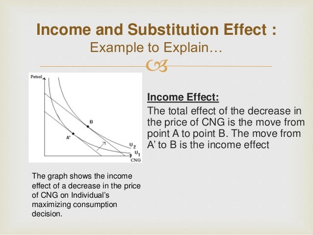 economics : income - substitution effect