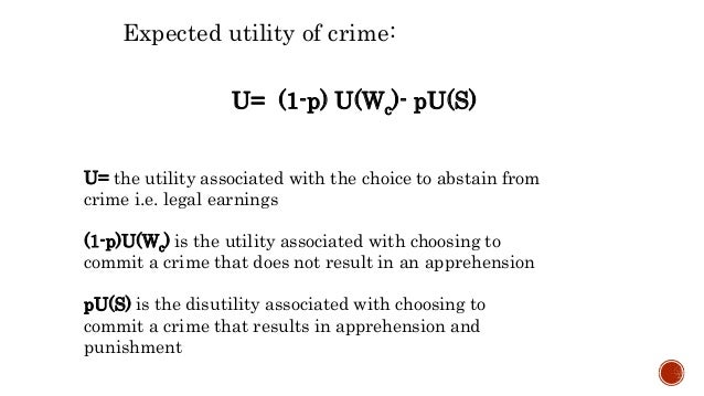 Economics of crime model
