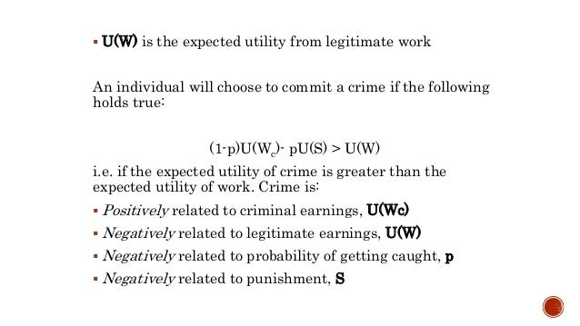 economics of crime A fairly well-established subclass of neoclassical economics fails to get to the root of the problem, argues chris westley.