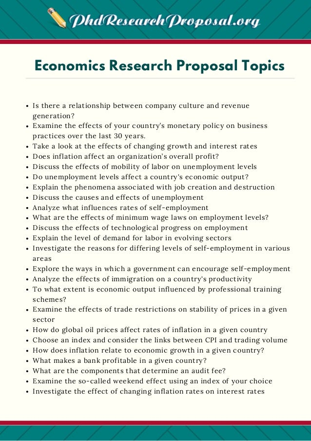 Economics phd research proposal