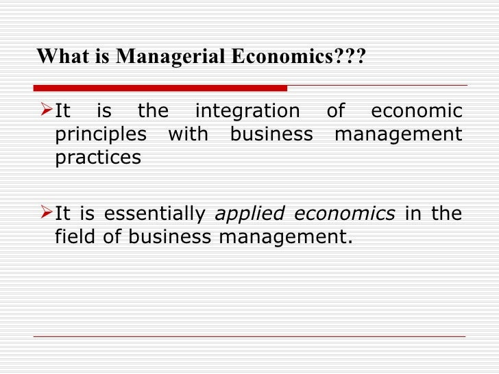 definition of managerial economics pdf