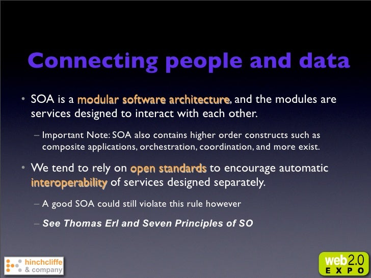 But existing integration models      have been challenged • Most SOA initiatives are delivering low ROI to the business • ...