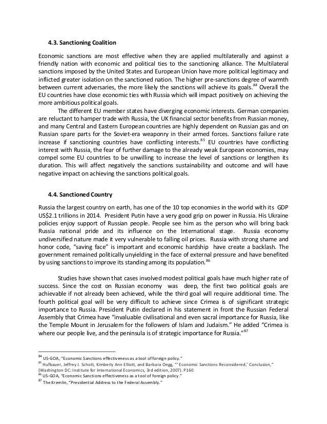 Economic Sanctions Essay - Homework for you