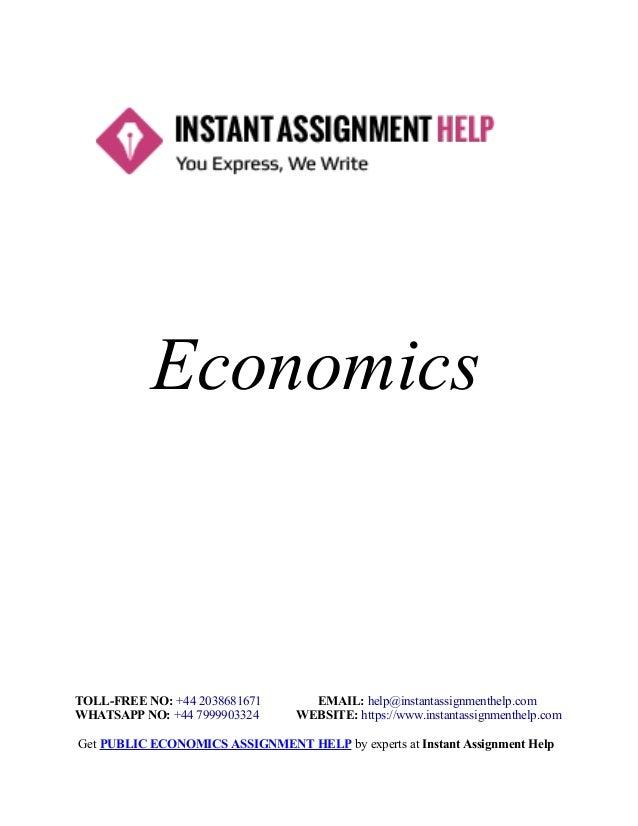 Help with college economics homework