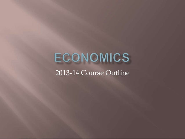 2013-14 Course Outline