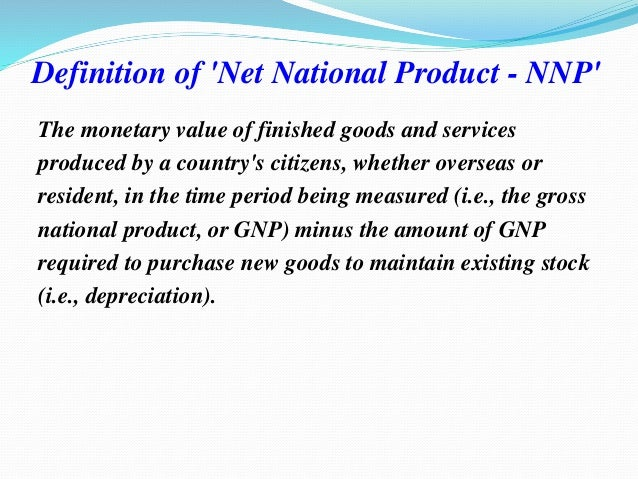 what is nnp in economics