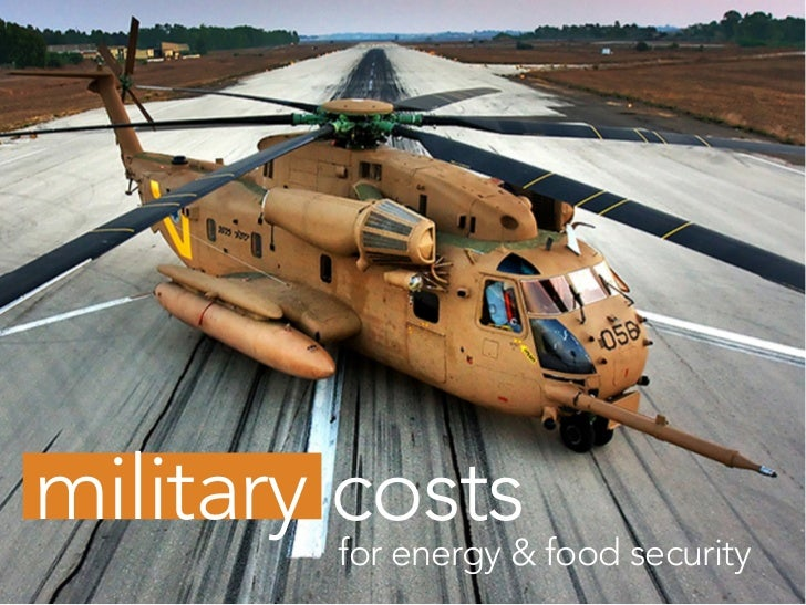 military costs         for energy & food security