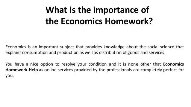 Help with economics homework