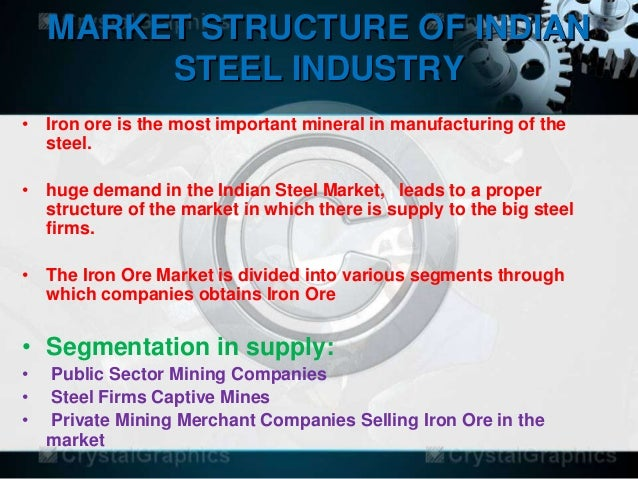 market structure of steel industry The core operations of the us flat-rolled steel industry, using hot-rolled steel  production as a proxy, generated over $48 billion in cash even after deducting.